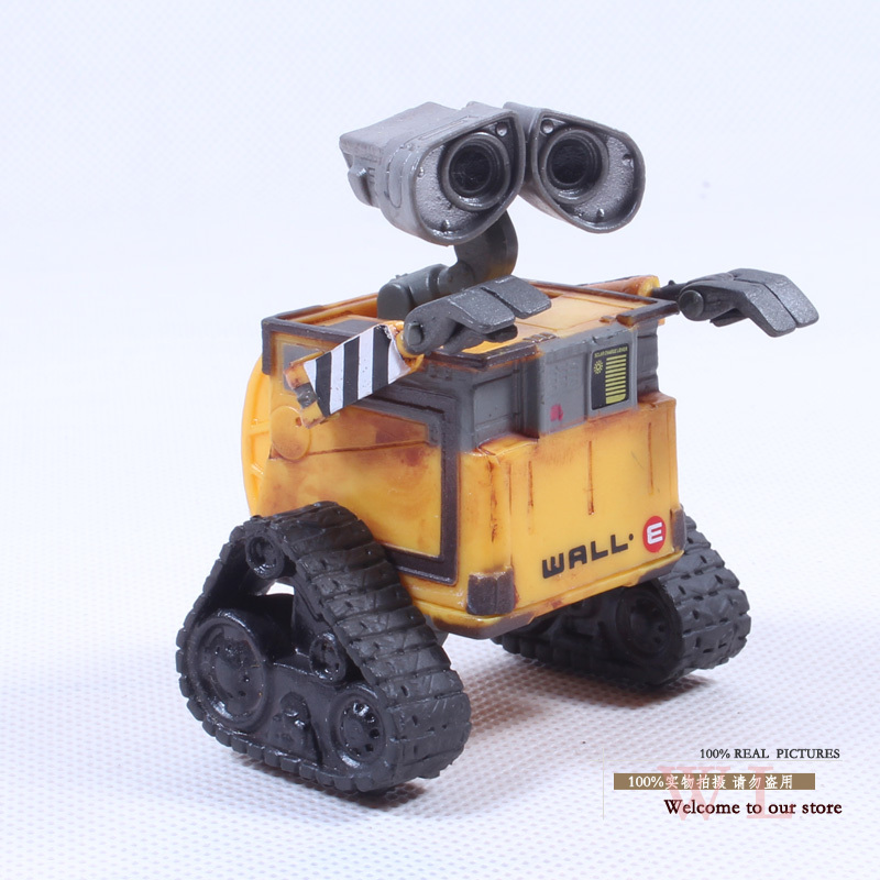 Free Shipping Wall-E Robot Wall E PVC Action Figure Collection Model Toy Doll 6cm OLD STYLE DSFG014 wall e walle wall e robot models wall e