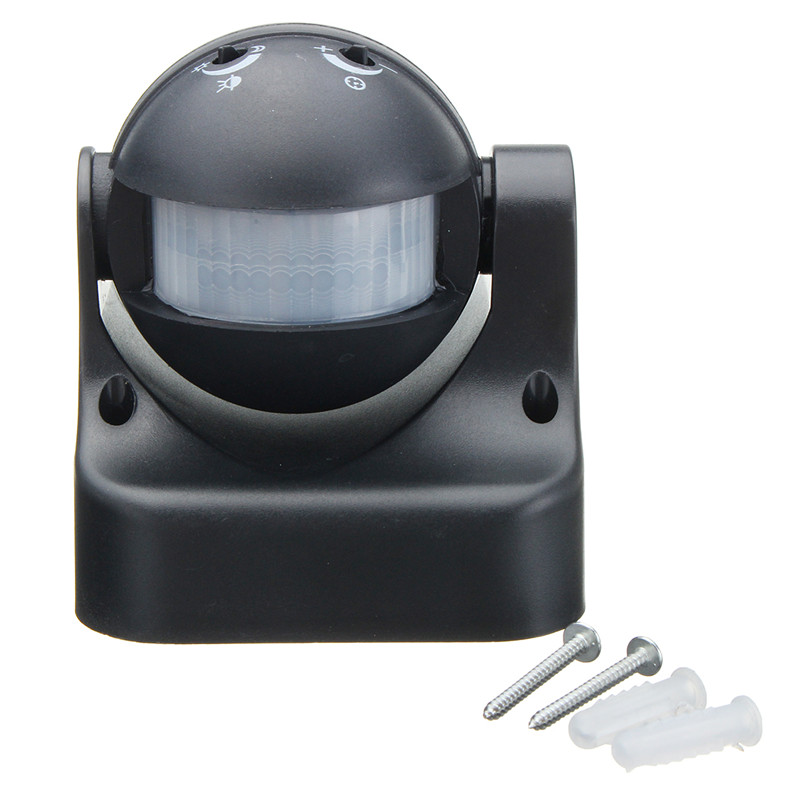 все цены на 180 degree Auto PIR Motion Sensor Detector Switch Home Garden Outdoor Light Lamp Switch Black Best Price