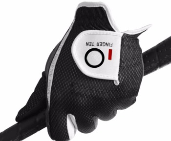 Men's Golf Gloves Worn on Left Hand for Right-Handed Golfer Pack Lh Rain Hot Wet Grip Color Black Green Gray Soft Fit Finger Ten 1