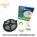 5050 RGBW LED Strip 5m + 2.4G Touch controller DC12V 60LED/m RGBW / RGBWW Flexible LED Light Sets.
