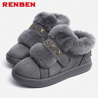 Women Snow Boots Winter Shoes Warm Plush Ankle Boots 2018 Brand Female Shoes Wedge Snow Boots