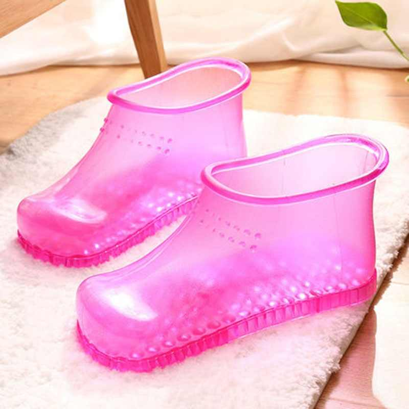 Women Foot Soak Bath Theorapy Massage Shoes Relaxation Ankle Boots Acupoint Sole Home Feet Care Hot water Zapatos Mujer PJ1W