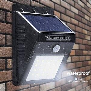 Goodland LED Солнечный свет водонепроницаемый солнечный светильник PIR датчик движения настенный светильник LED Солнечная энергия панель ночник д...
