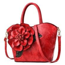 Three-dimensional Flower Decoration Messenger Bag Luxury Handbags Designer Fashion Wild PU2019 Summer New Womens