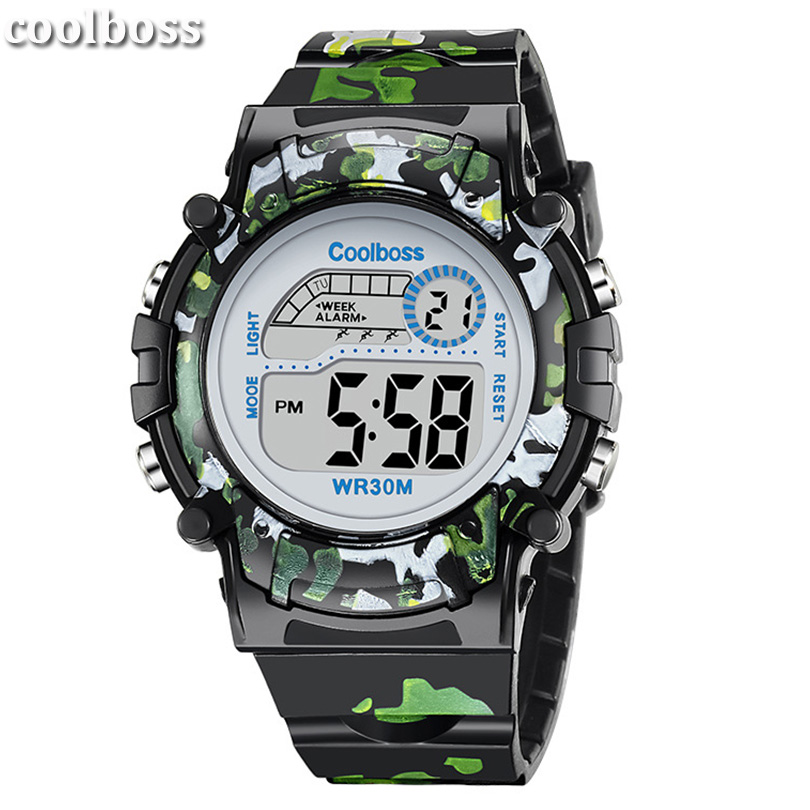 Adaptable Coolboss Brand Electronic Sport Student Children Watch Kids Watches Boys Girls Clock Child Led Digital Wristwatch For Boy Girl Back To Search Resultswatches