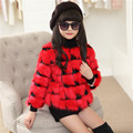 Распродажа Девушки зимнее пальто девушки одежда верхняя одежда из искусственного меха плед пальто детей clothing детская одежда дети куртка для девочки