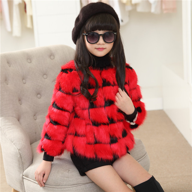 Clearance Sale Girls winter coat girls clothes outerwear faux fur plaid coat children clothing kids clothes kids jacket for girl