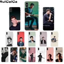 RuiCaiCa Hit pop singer Shawn Mendes Smart Cover Soft Shell Phone Case for Apple iPhone 8 7 6 6S Plus X XS MAX 5 5S SE XR Cover shawn mendes x yoox толстовка
