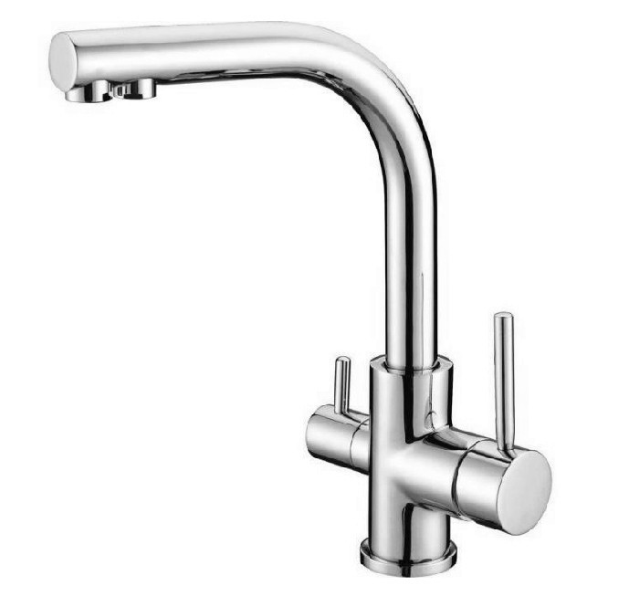 Chrome Kitchen Sink Faucet Swivel Spout Mixer Tap With Purified Water outlet faucet KF010