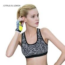 CITRUS&LEMON sport yoga tops women crop top fashion sexy tank bra underwear push up bustier healthy comfortable fitness bra top