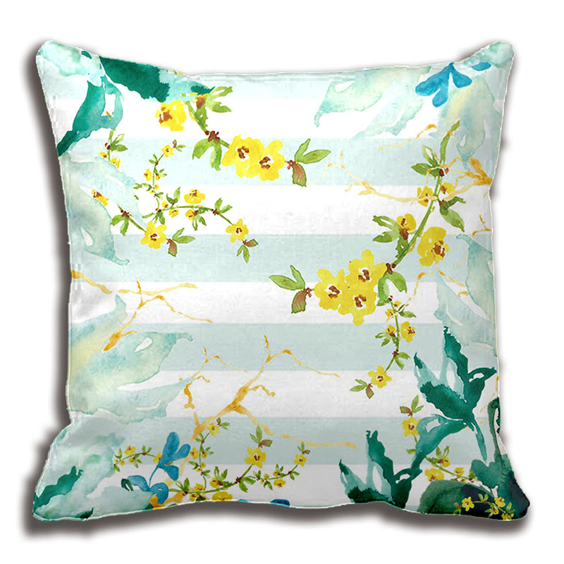 Floral Watercolor Bouquet Collage Throw Pillow Decorative Cushion Cover Pillow Case Customize Gift By Lvsure For Car Sofa Seat Cushion Cover Decorative Cushion Coverscushion Cover Pillow Case Aliexpress