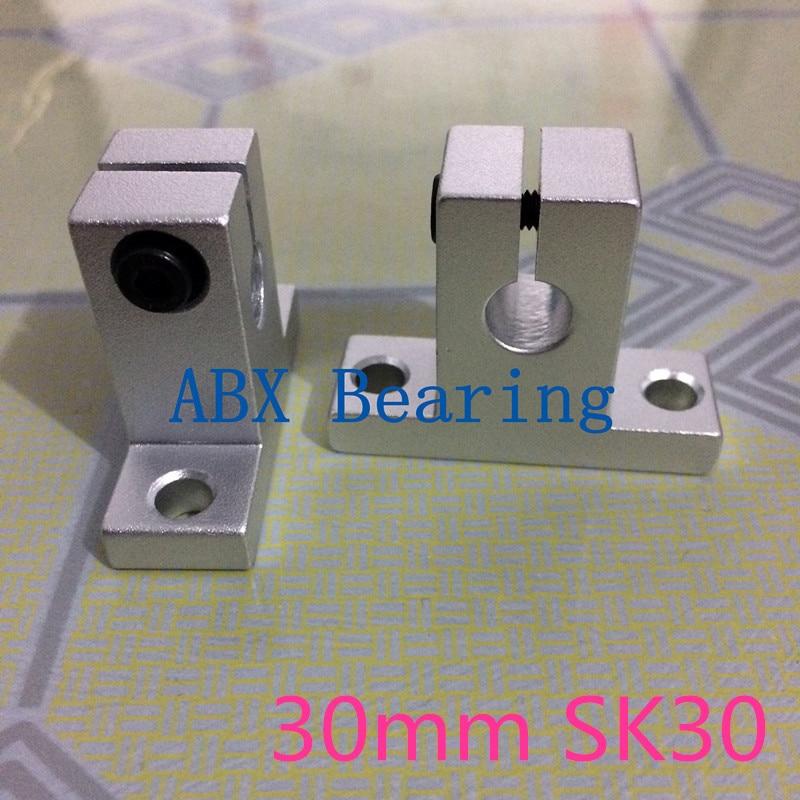 ABXG SK30 SH30A SH30 30mm linear bearing rail shaft support XYZ Table CNC Router sk16 sh16a 16mm linear rail shaft support xyz table cnc 2pcs lot
