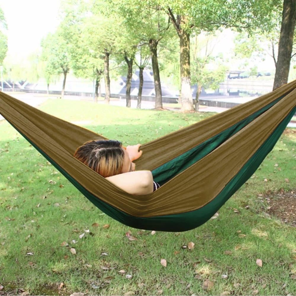 Enkeeo Nylon 2 Person Parachute Hammock For Travel Kits