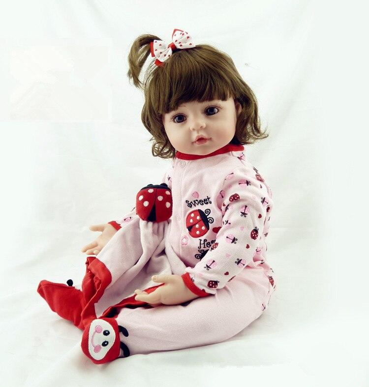 Nouvelle Production 55 cm Silicone Reborn Bébé Poupée Jouets Belle Princesse Bébés Poupées Cadeau D'anniversaire Cadeau De Noël Filles Brinquedos