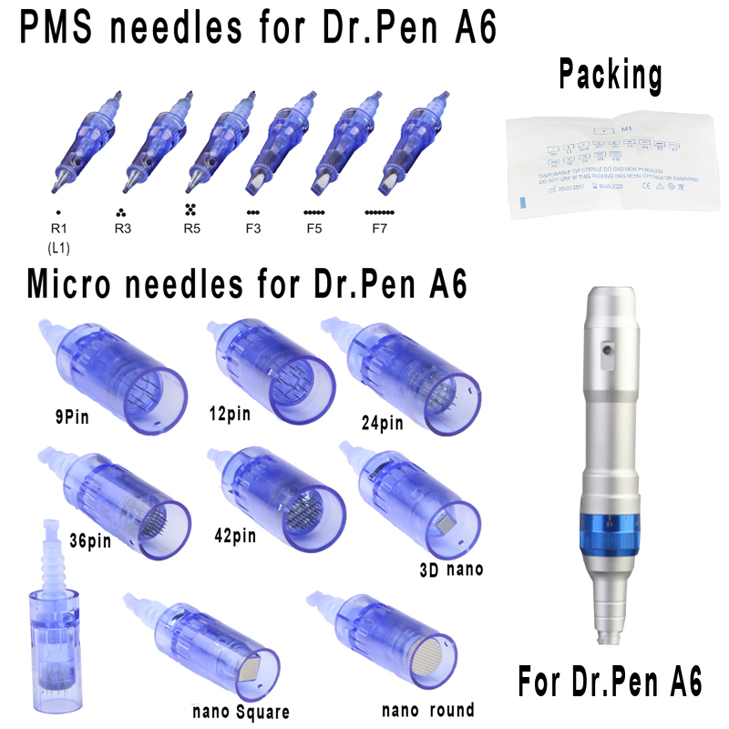 20pcs Bayonet Cartridge Needles 1/3/5/7/9/12/24/36/42/nano For Electric Dr.Pen A6 Derma Pen Microblading Needles Micro Stamp