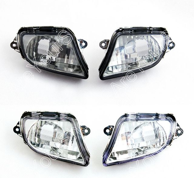 Sale For Honda CBR1100XX 1999-2006 Motorcycle Replacement Front Turn Signals Light Lens Clear Smoke Certified Blinker Cover