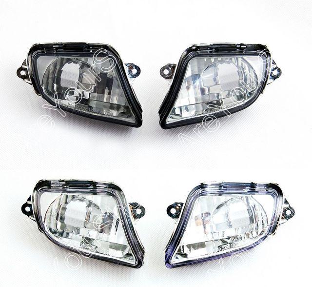 Venta para honda cbr1100xx 1999-2006 frente señales de vuelta de luz de reemplazo de la motocicleta blinker cubierta de la lente humo claro certificado