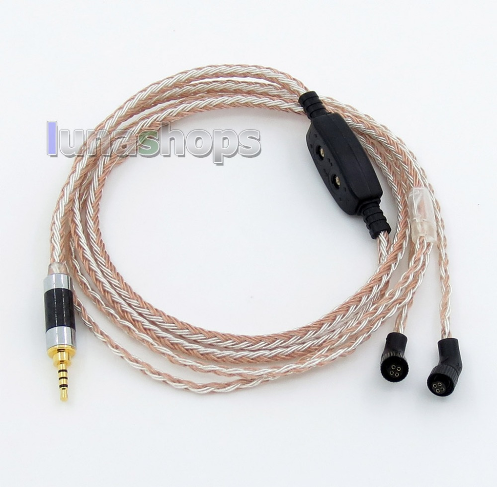 3.5mm 2.5mm 4.4mm 16 Cores OCC Silver Mixed Headphone Cable For AKR03 Roxxane JH Audio JH24 Layla Angie AK380 AK240 rosie angie queen естественный цвет 16 дюймов