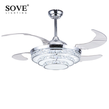 white and gold ceiling fan. modern led folding ceiling crystal chandelier fan lights chrome gold light lamp with remote control 220 volt white and