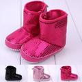 2017 New Design Bling Bling Mocassins Sapatos Da Criança Do Bebê Recém-nascido Primeiro Walkers Macio Sapatos de Sola Botas Botas Princesa Botas de Berço