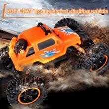 Super besar RC mobil 2836 2.4G 30 cm 4WD bigfoot tipping ember 45 derajat naik off road remote control RC stunt model mobil hadiah anak