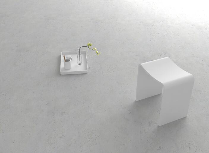Bagno curva perfetta modellazione superficie solida pietra