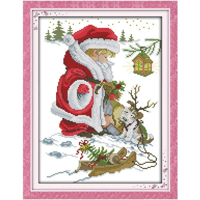 ⊹Feliz Navidad (4) puntada cruzada contada 11ct 14ct hecho a mano ...
