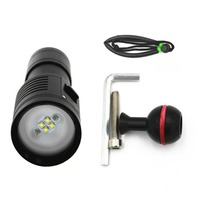 Outdoor Underwater shooting Photography Fill Light Diving Light LED Flashlight Scuba Torch Bright Video Light Diving Tool NEW