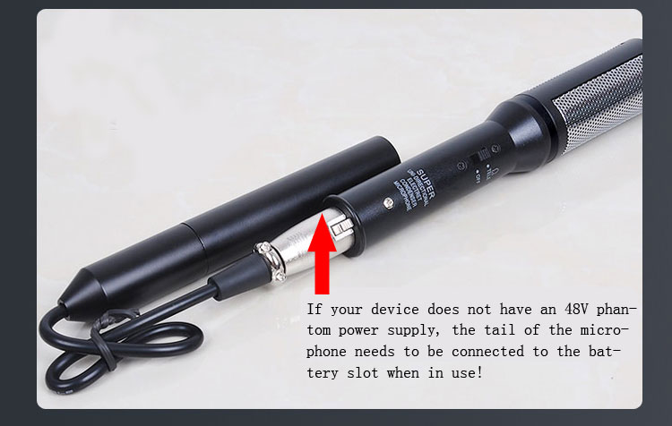 Freeshipping HighQuality Shotgun Entrevista Microfone Condensador Profissional