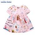 Novo estilo europeu de verão baby girl dress cotton infantil dress dos desenhos animados da criança dress crianças vestidos de baptizado