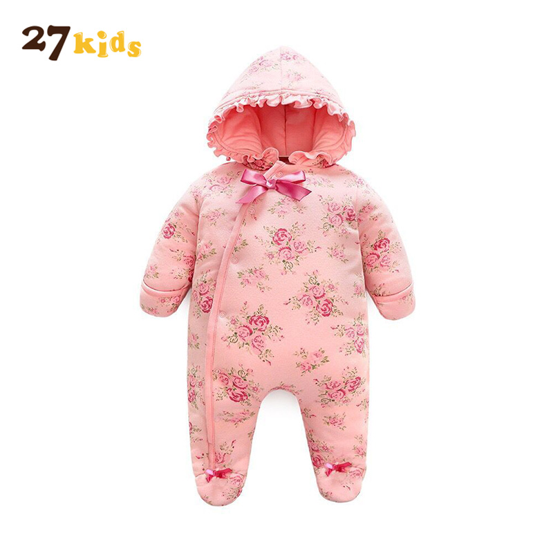 27Kids 1piece Baby Romper NewBorn Clothes Infant Rompers Long Sleeve Jumpsuit with Hood 2 Color 27Kids Brand Baby Girls Clothing newborn baby rompers baby clothing 100% cotton infant jumpsuit ropa bebe long sleeve girl boys rompers costumes baby romper