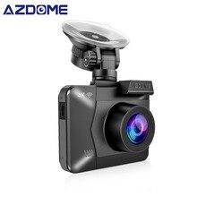 AZDOME M06 WiFi Costruito nel GPS Dual Lens FHD 1080 P Anteriore + VGA Posteriore Della Macchina Fotografica DVR Recorder 4 K Dash Cam Dashcam Visione Notturna WDR