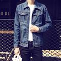 2017 New Fashion Denim Jacket Mens Single Breasted Casual Turn-down Collar Jacket Man Clothing Jackets Coats 5XL