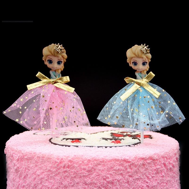 Tremendous Pink Blue Tutu Dress Princess Birthday Cake Topper Cupcake Funny Birthday Cards Online Inifofree Goldxyz