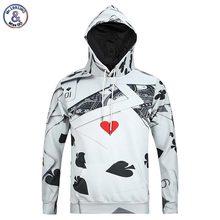 Mr.1991INC Neue Mode herren Langarm 3d Hoodies Mit Cap Poker Beiläufige schöne Hoody Herbst Winter Sweatshirts