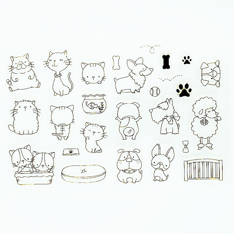 YLCS221 Animals Silicone Clear Stamps For Scrapbook DIY Album Paper Cards Decoration Embossing Folder Craft Rubber Stamp 11*16cm jwhcj vintage cat date wood roller stamps for children diy handmade scrapbook photo album diary book decoration students stamps