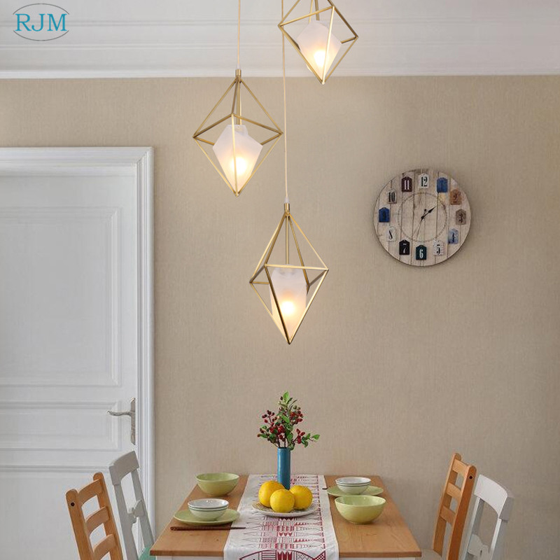 Modern Simple Creative Copper Pendant Lamps American Personality LED Pendant Lights For Bar Restaurant Bedroom Living Room Study