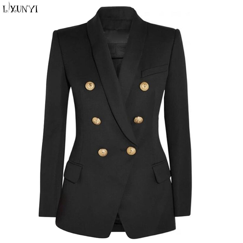Womens double breasted blazer suit jacket