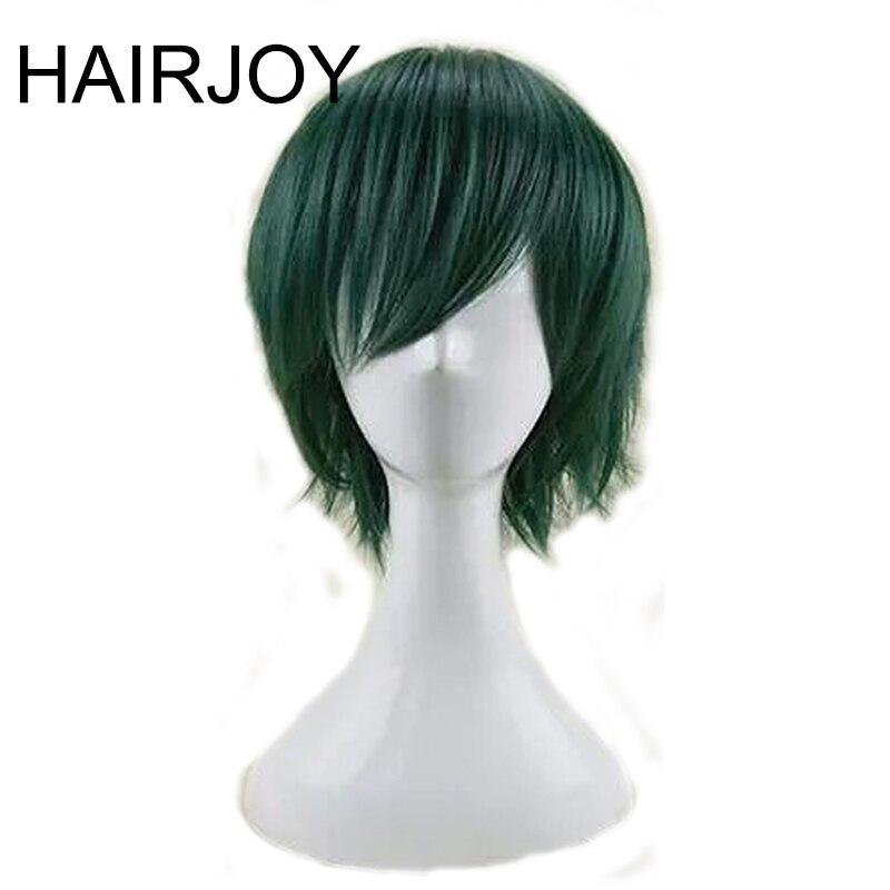 HAIRJOY Röd Grön Blå Brun Rosa Orange Cosplay Wig Mäns - Syntetiskt hår - Foto 5