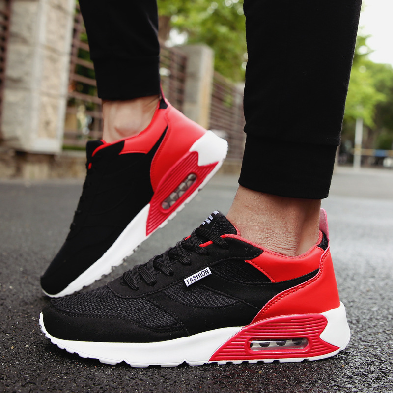 Dos Moda Respirável Blue Homens black Sapatos Masculina 2019 Primavera cinza Casuais Red White Outono Black black xXYw07Bqf