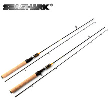SEASHARK UL FIshing Rod 0.6-10g test Fast action 1.8m 602UL Spinning rod for light Jigging trout rod 2 sections Carbon rod