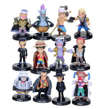 12pcs Anime One Piece Figure Set Devil Fruit Users Buggy Crocodile Shanks Straw Hat Luffy Action Figure PVC Model Doll Toys(China)