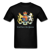 Royal Emblem Design Picture Tshirt For Men High Quality Funny New T Shirt Breathable Cotton Casual Loose Tee-Shirt Man