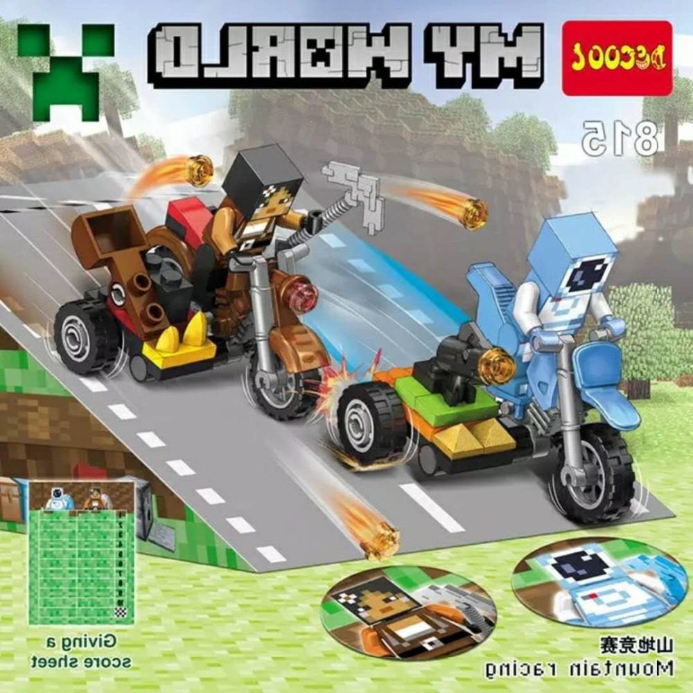 Us 1777 Minecrafted Decool 815 818 4pcslot My World Racing Building Blocks Bricks Kids Toys Brinquedos For Lego For Minifigure Lps In Blocks From