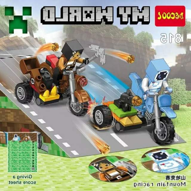 Online Shop Minecrafted Decool 815 818 4pcslot My World Racing