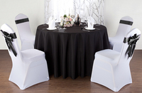 cheap hotel cloth round table cloth Pure color polyester wedding hotel meeting table cloth cover dust cover