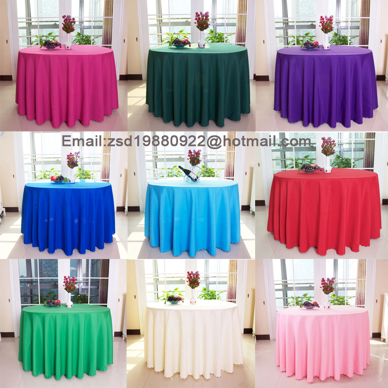 buy new 10 pcs polyester round 240 cm 94 5 inch table cloth nappe de table. Black Bedroom Furniture Sets. Home Design Ideas