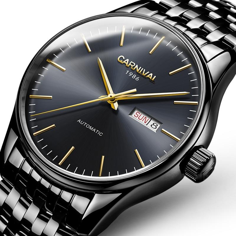 Zwitserland luxe herenhorloge Carnival Brand Horloges Mannen - Herenhorloges