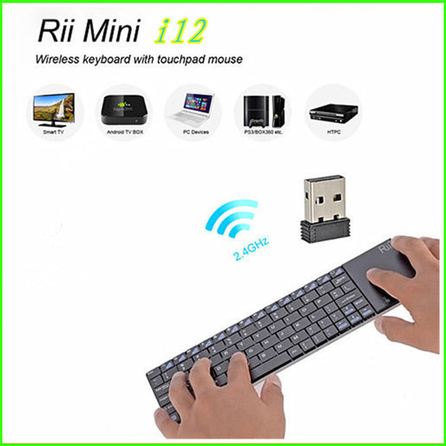 d58e7f9d2e2 Rii Mini i12 2.4G Multifunction Wireless Touchpad Keyboard Ultra Slim for  Sony PS3 HTPC Android TV Box