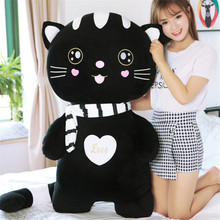 Fancytrader Cute Stuffed Soft Plush Cat Toys Big Anime Children Gifts Cats Doll Pillow 120cm/100cm/80cm